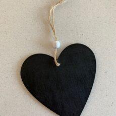 Hjerteformet kridttavle til skrift