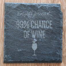 Todays forecast - 99% chance of wine - ølbrik i skifer