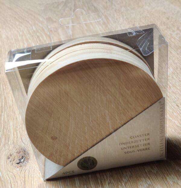 Bordskånere i bambus - 4 stk i pakke