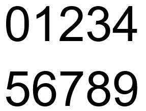 Sådan ser de forskellige tal ud